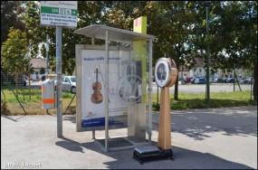 駅前の体重計