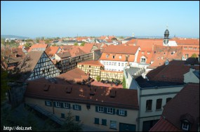 Neue Residenzのバラ園からの景色