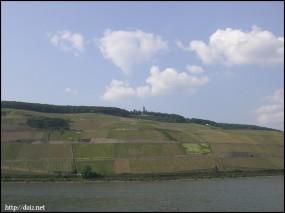 ライン川沿いの景色