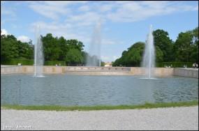 Kaskade(庭の池と噴水)