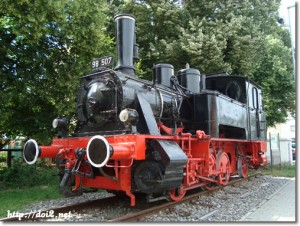 インゴルシュタット中央駅前の機関車