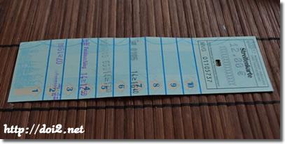 Streifenkarte(回数券)