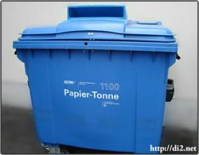 Papier-Tonne(紙ゴミ)用コンテナ