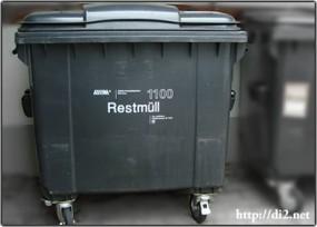 Restmülltonne(残りのゴミ)用コンテナ