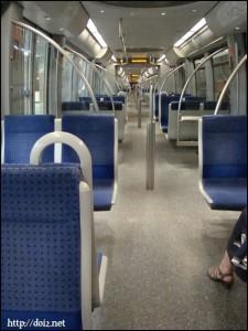 ミュンヘン地下鉄車内