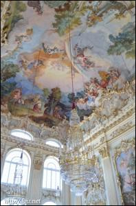Steinernen Saal(シュタイネルネ・ザール)の天井