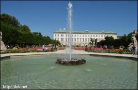Mirabellgarden(ミラベル庭園)の噴水