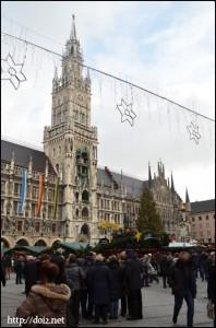 Marienplatzのクリスマスマーケット