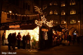 Neues Rathaus中庭のクリスマスマーケット