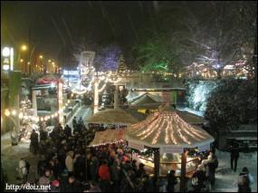 ミュンヘナーフライハイトのクリスマスマーケット