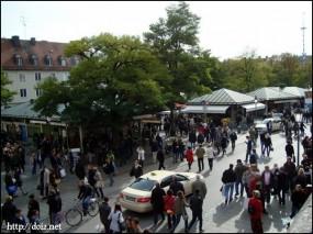 10月中旬、Viktualienmarkt