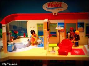 ホテルのプレイモービル