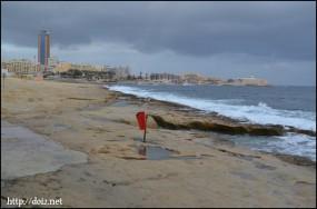 Sliema(スリーマ)の海岸