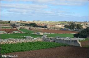ハジャール・イム神殿からの景色
