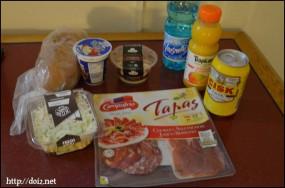 スーパーで買った食料