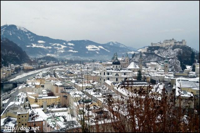 Mönchsberg(メンヒスベルク)からの景色