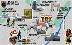 ミュンヘン観光マップ