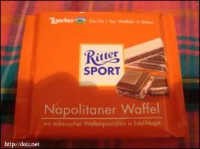 Ritter Sport Napolitaner Waffel(リッタースポーツ・ワッフル)
