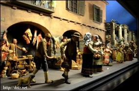 Straße in Neapel mit Marktszenen