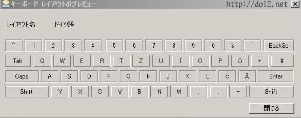 ドイツ語キーボードの設定