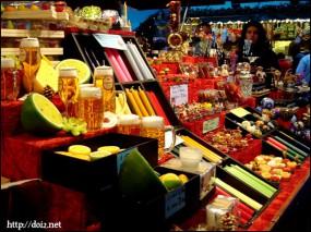 クリスマスマーケットのキャンドル屋さん